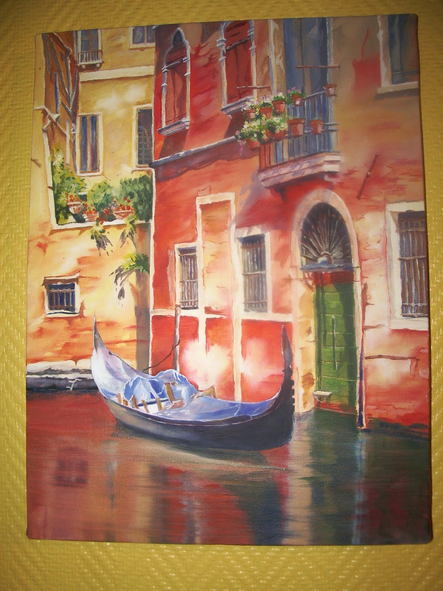 Huile sur bois - Venise